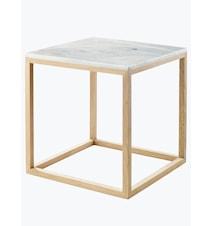 Kristina dam marmor sidobord - Vit