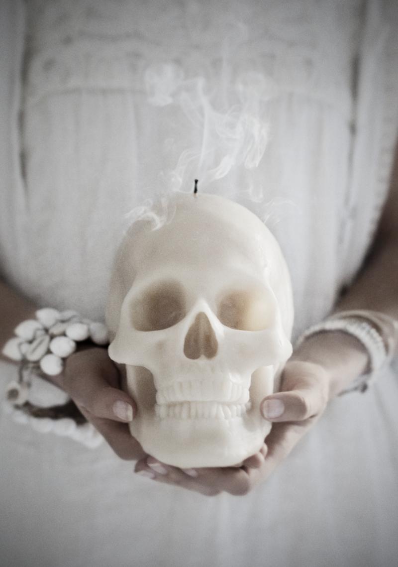 Skull candle stearinljus