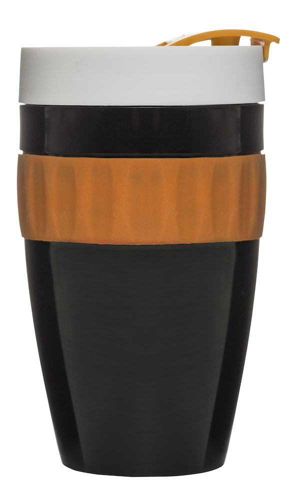 To Go mug svart/orange/vit