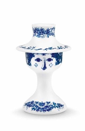 Ljusstake, Felicia, blå, H 13,5 cm