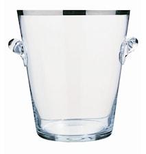 Seau a champagne- Ishink i glas med Platinakant