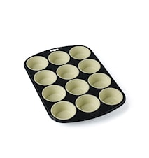 Muffinform 25 cm grå/creme