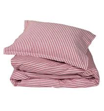 Classic stripe påslakan – Red