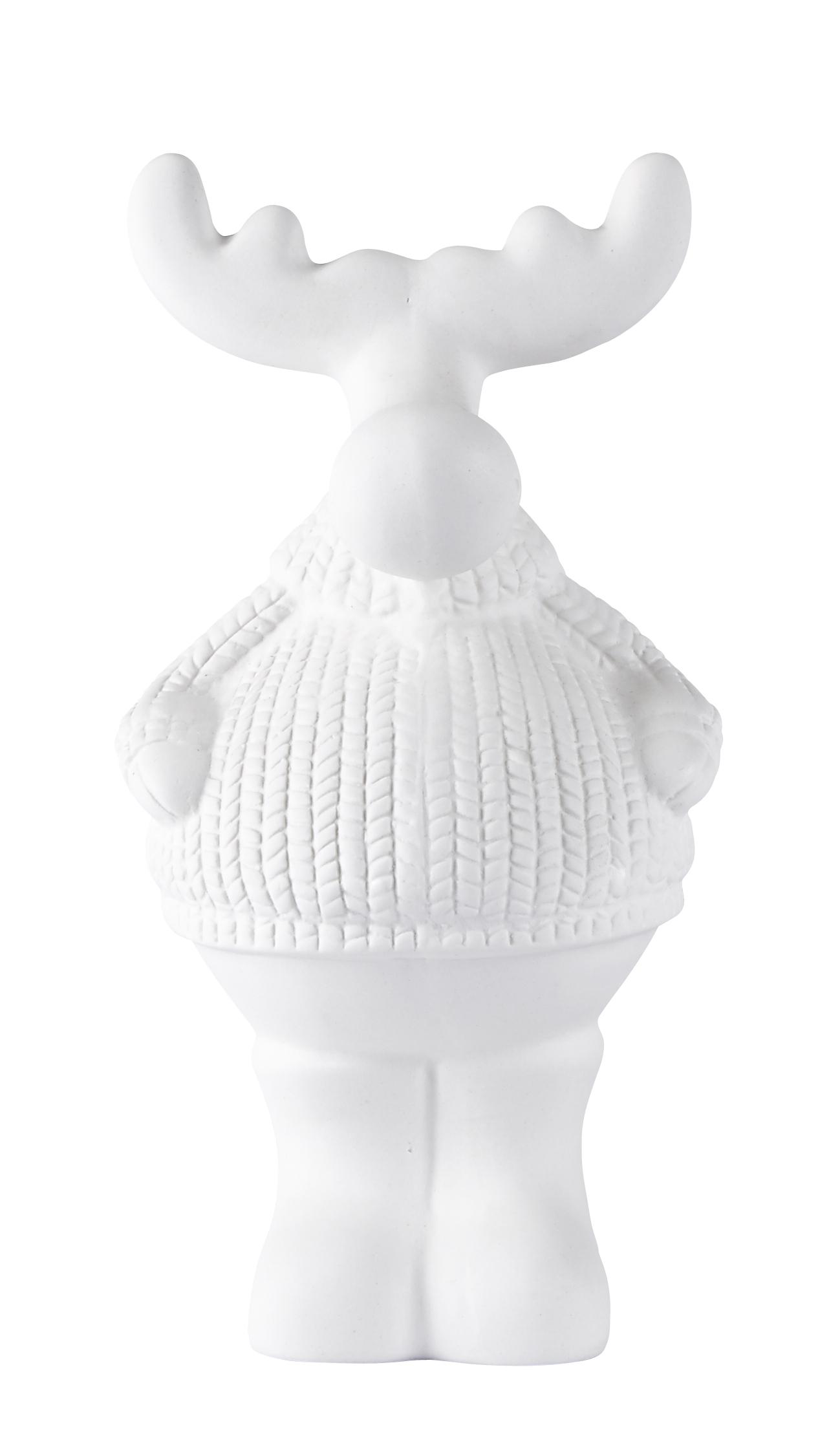 Figur Ren Keramik Vit 20 cm