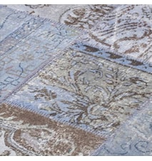 Patchwork Rug Blue Light