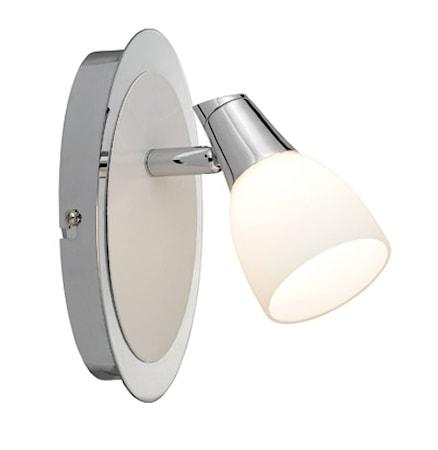 Bild av Markslöjd Halden Vägglampa 1 Ljus Krom