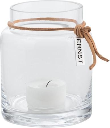 Värmeljuslykta glas d6,5 h10 cm