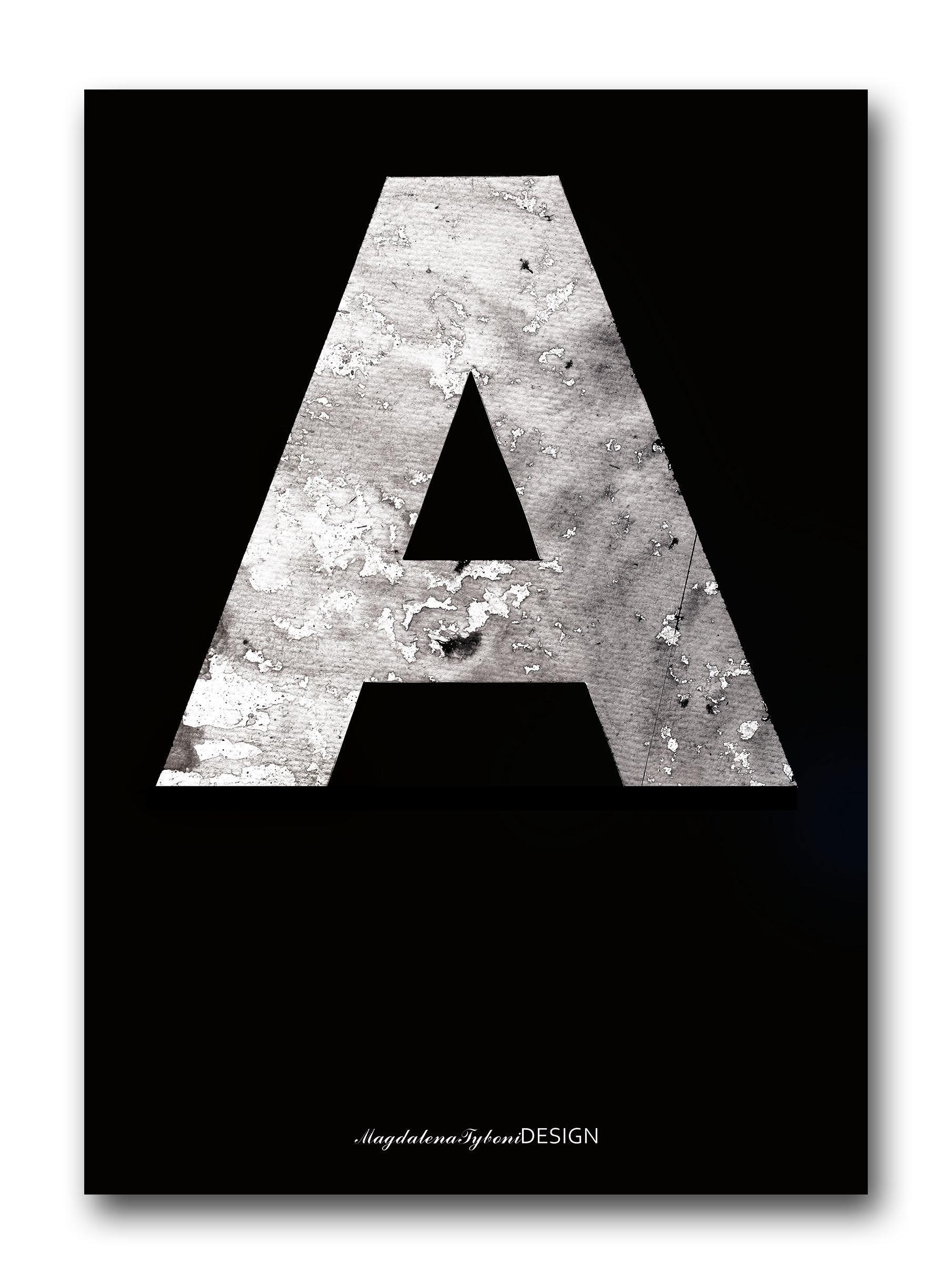 A betong svart poster – 30x40