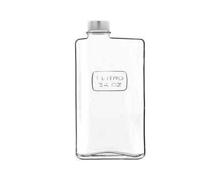 Optima flaska rektangulär klar - 1 liter