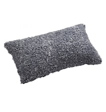 Ace Small Kudde fårskinn/ulltyg 30x50 - Graphite/Black