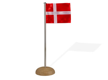 Flagga Dansk 10 cm