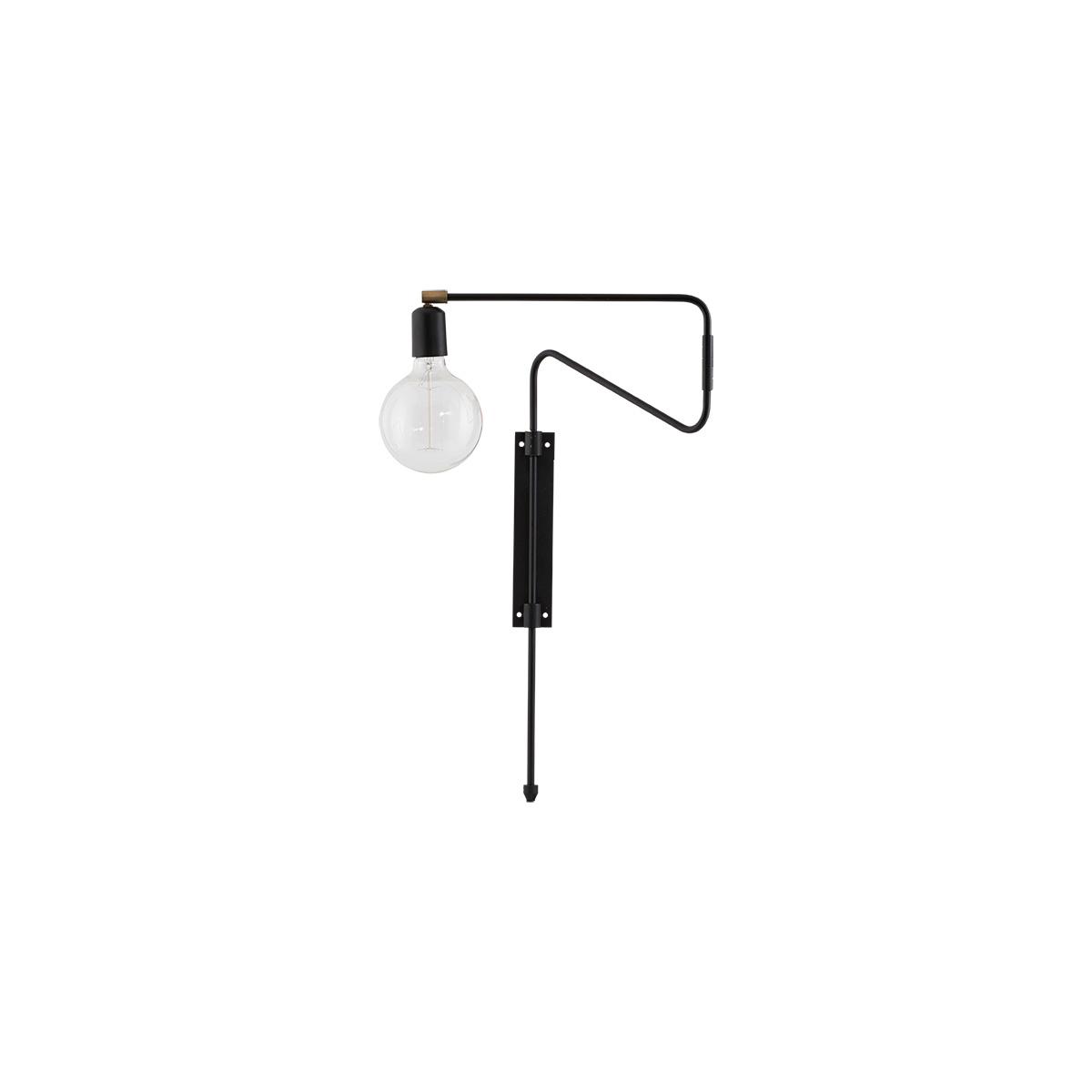Swing Vägglampa Svart 35 cm