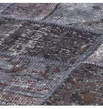 Patchwork Rug Gray