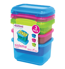 Lunch 2016 400ml 3 Pack Coloured