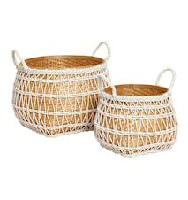 Raffia weave bamboo korg 2 st