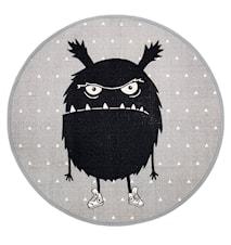 Teppe Monster Grå Rund Bomull 100cm