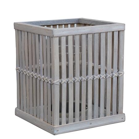 Cage lykta 25x25x30 Bambu