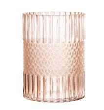 Vase Glass Rose Ø15 cm