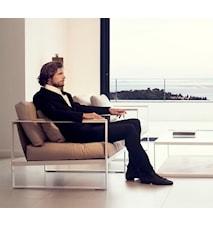 Monaco Lounge Soffa - 2-sits, vit ram