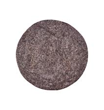Felt Round sittdyna 35 cm - Ljusbrun