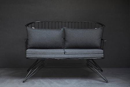 Two sofa – Svart
