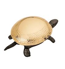 Ringklocka Svart Sköldpadda med guldskal