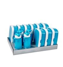 Matlådsset inkl. vattenflaskor Turkos 13-delar