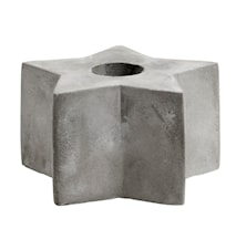 Ljusstake Cement Star Medium