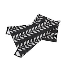 Handduk svart/grå leaves L70cm
