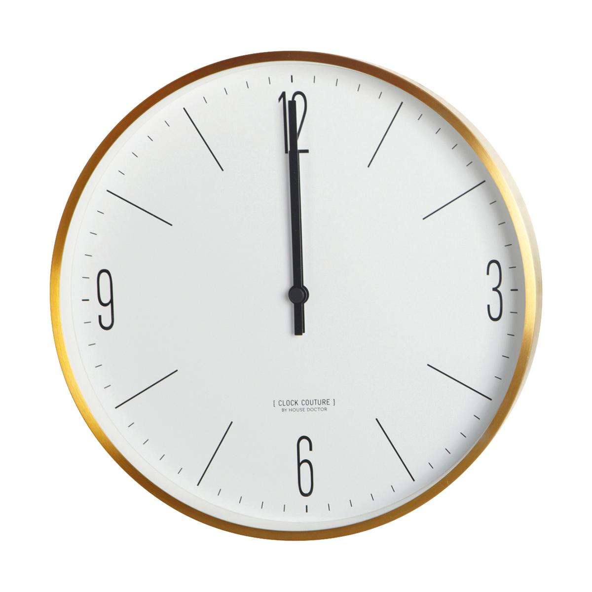 Clock Couture Väggklocka Guld/Vit 30 cm