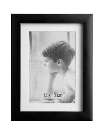 Bild av KJ Collection Tavelram Glas Svart 18x13 cm