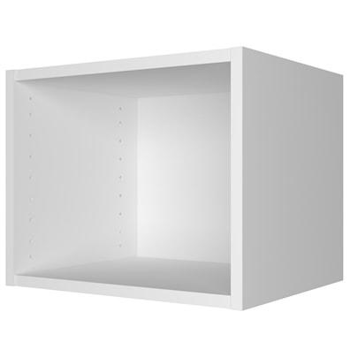 Toppskap til veggmontering, uten dør – dybde 33 cm