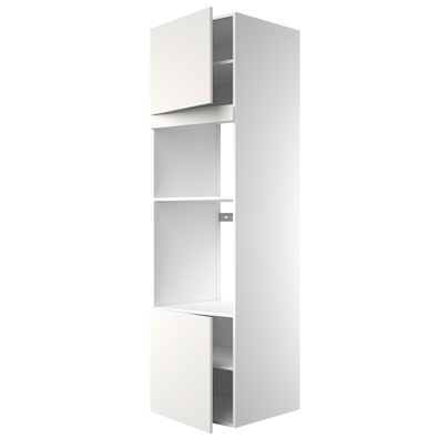 Høyskap 211,2 cm høyt til ovn/mikrobølgeovn, åpning 105,6 x 56,7 cm