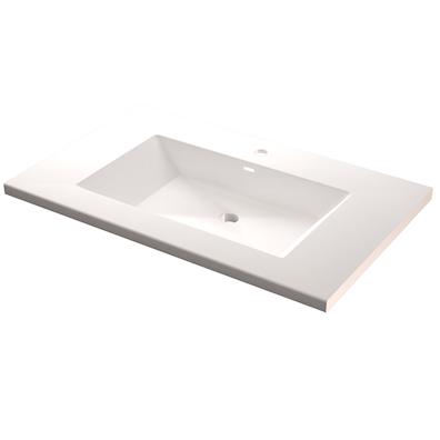 Håndvask modell Prisma helstøpt dybde 51 cm