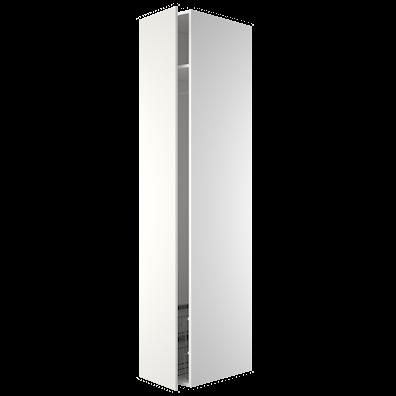 Garderobeskap 211,2 cm høyt med stang, hylle og 15 cm trådkurv