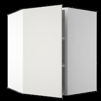 Diagonalhjørneoverskap med 2 hyller
