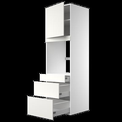 Högskåp 195,2 cm högt till ugn med lådor med softstängning