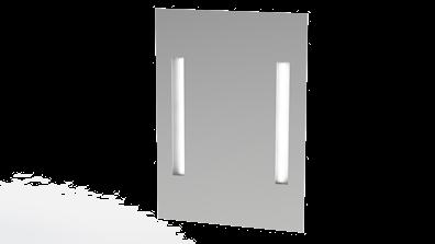 Baderomsspeil 85 cm høyt med LED-lys