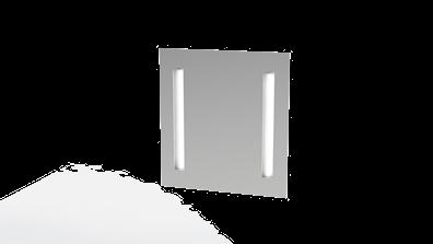 Baderomsspeil 65 cm høyt med LED-lys