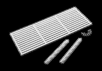 Kjøleskapsrist hvit til skap i bredde 60 og 64