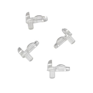 Glasshyllebærere med sikring til bad – 4 stk