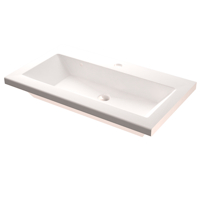 Håndvask modell Prisma helstøpt dybde 36 cm