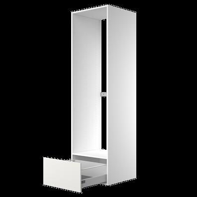 Høyskap 211,2 cm høyt til frittstående kjøl/frys, åpning 177,6 x 56,7 cm