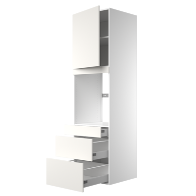 Högskåp 211,2 cm högt till ugn med lådor med softstängning