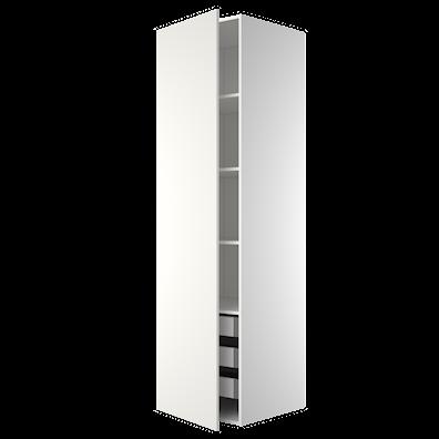Garderobeskap 211,2 cm høyt med 3 uttrekkskurver og 4 hyller