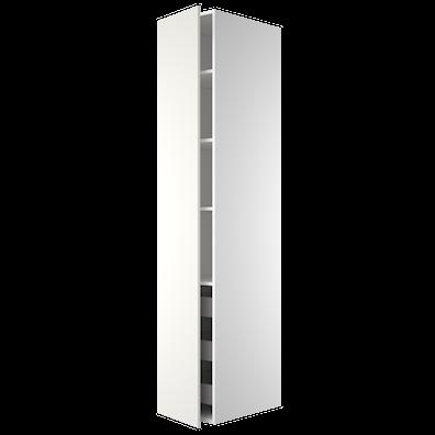 Garderobeskap 211,2 cm høyt med uttrekkskurver og 4 hyller