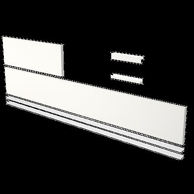 Sokkelpakke med ende/forsokkel og profiler (lengde 123,7 cm)