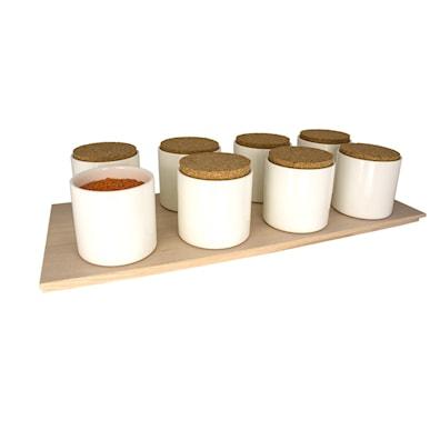 FrameFlexID – Skuff til 8 stk. oppbevaringsglass i lys ask