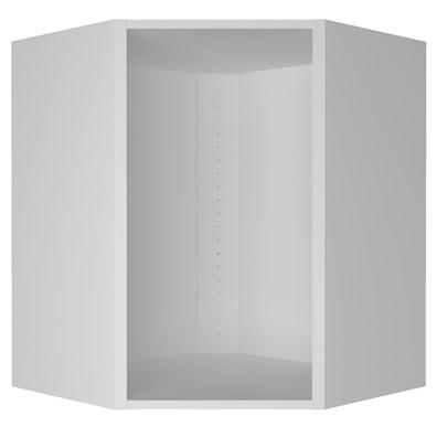 Hjørneskap diagonalt 70,4 cm høyt uten innredning og innhold