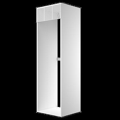 Høyskap 195,2 cm høyt til kjøleskap, åpning: 192 x 56,7 cm